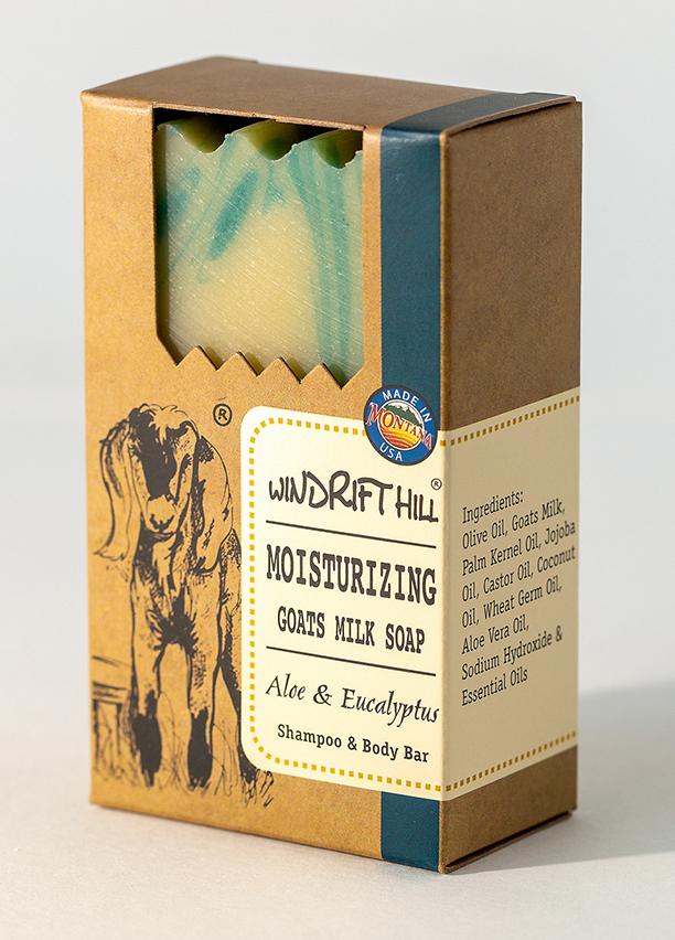 aloe eucalyptus goat milk soap