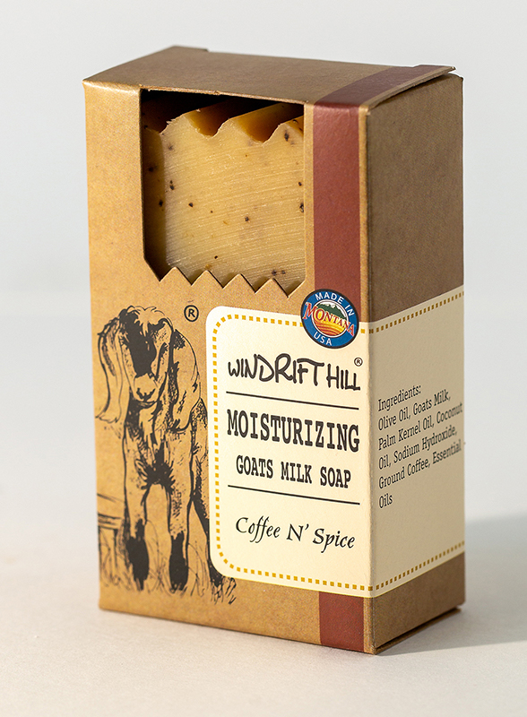 coffee spice goat milk soap