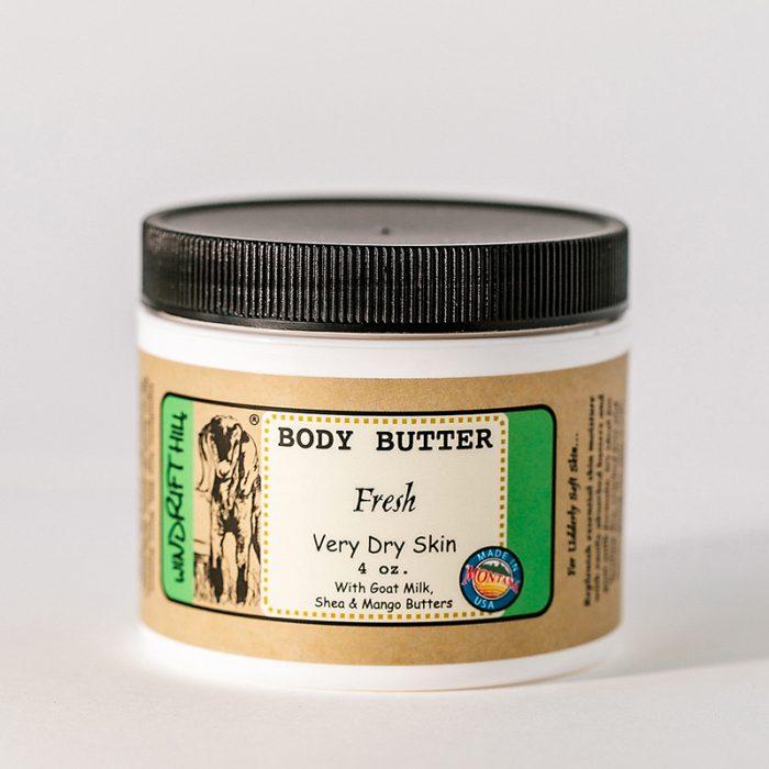 fresh goat milk body butter