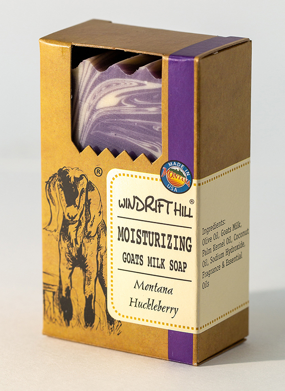 montana huckleberry goat milk soap