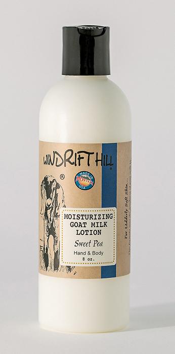 sweet pea goat milk lotion